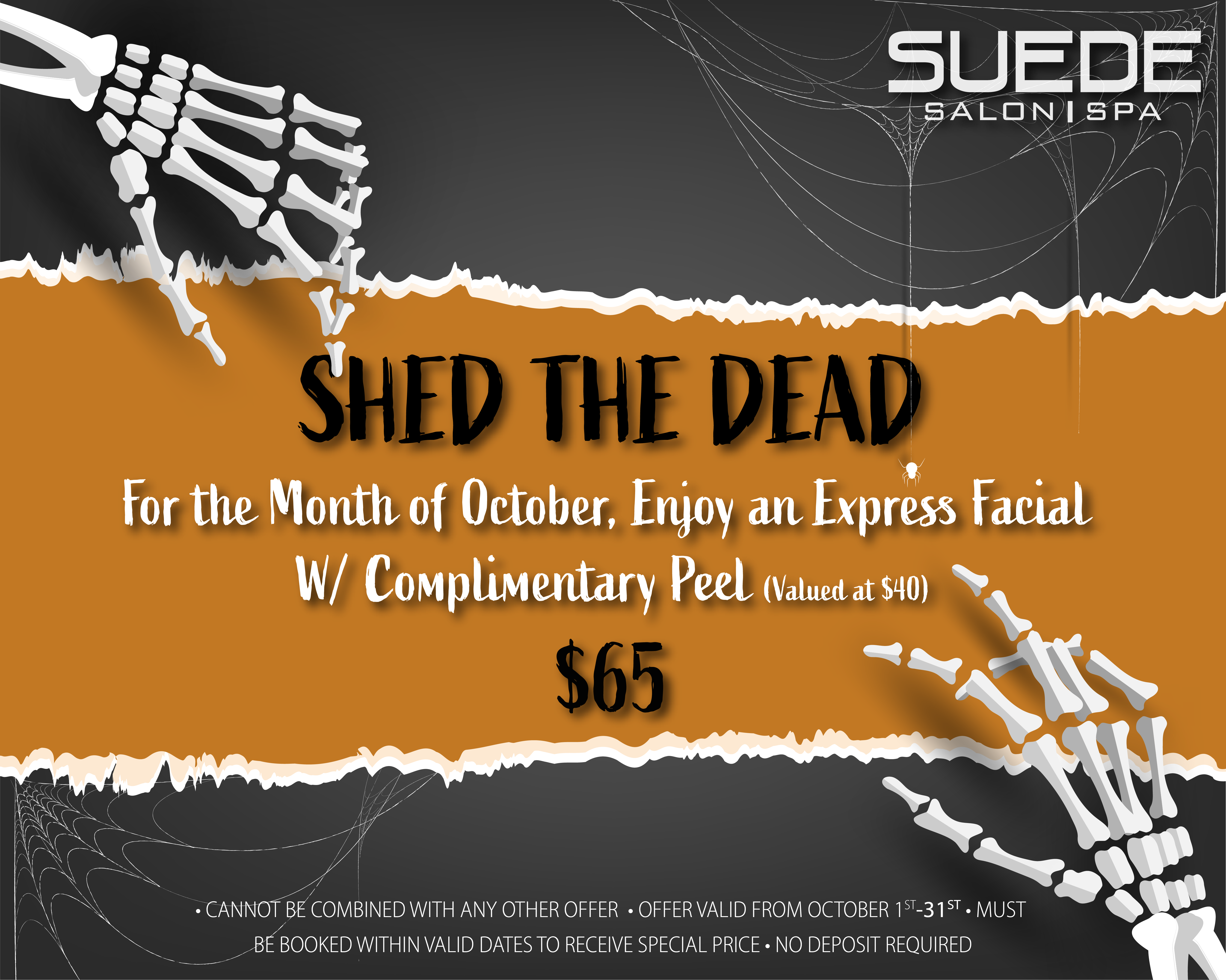 Suede salon facial offer