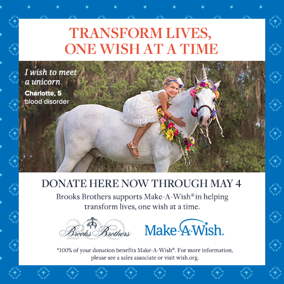 brooks brothers make a wish charity